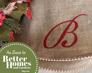 Large Christmas Tree Skirt Tree Skirt Burlap Tree Skirt Farmhouse Tree Skirt 1 - Christmas Tree Skirt - The Burlap Cottage®