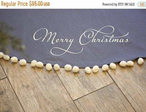 Linen Christmas Tree Skirt - Christmas Tree Skirt - The Burlap Cottage®