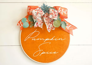 Pumpkin Spice Succulent Wreath - Wreaths - The Burlap Cottage®