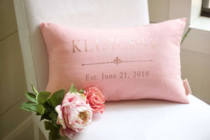 Rose Gold Wedding Decor Linen Anniversary - Wedding/Gift/Anniversary - The Burlap Cottage®