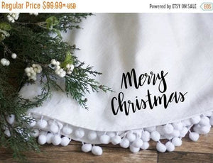 SALE Tree Skirt 60 Fully Lined - Christmas Tree Skirt - The Burlap Cottage®
