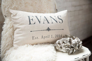 Second Anniversary Gift Grain Sack Pillow Cover - Pillows - The Burlap Cottage®