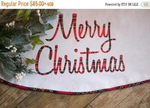 Tartan Plaid Tree Skirt Christmas Tree Skirt - Christmas Tree Skirt - The Burlap Cottage®