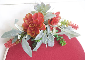 Valentines Day Gift Farmhouse Decor Modern Succulent Wreath - Wreaths - The Burlap Cottage®
