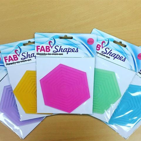 "Shades by Fab Shapes Hexagon Sets 1/2"" to 2"""