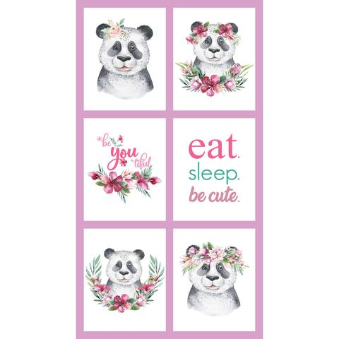 Tropical Zoo - DV3195 Eat Sleep Be Cute Panel