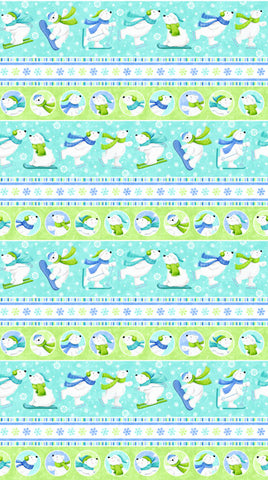 Snow Bears Flannel By Deborah Edwards 21709/63