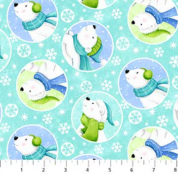 Snow Bears Flannel By Deborah Edwards 21711/63