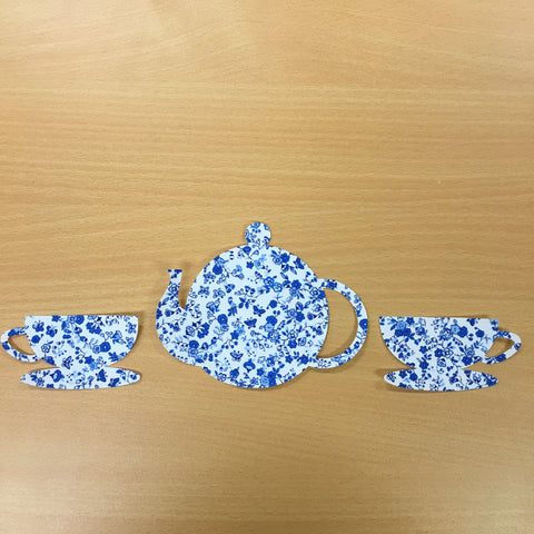 "Fab Shapes 4"" Tea Pot & Cups"