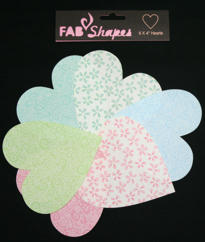 "Fab Shapes 4"" Hearts"