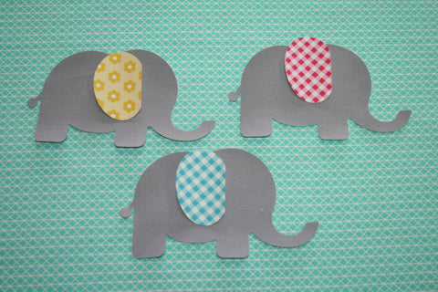 "Fab Shapes 3"" Elephants"