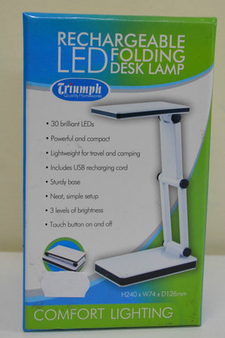 Rechargeable LED Folding Desk Lamp White