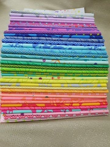 True Colors by Tula Pink - 20cm Bundle 42 Pieces
