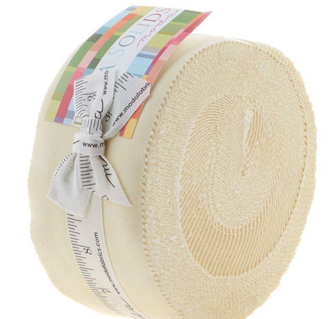 Bella Solids Cream Jelly Roll