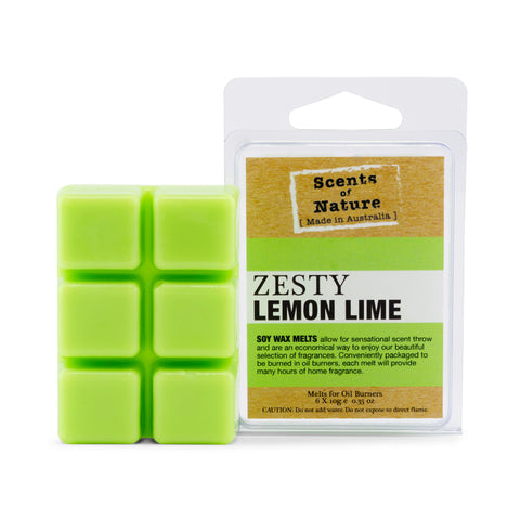 Zesty Lemon Lime Square Soy Wax Melts 60g