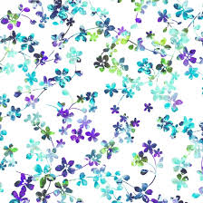 Watercolor Meadow  Backing by Studio E White/Purple