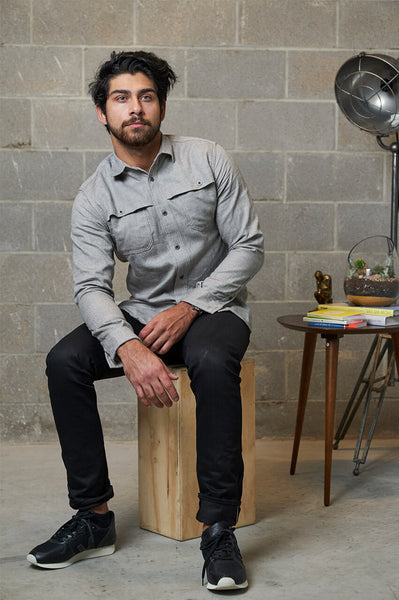 3Sixteen Hunting Shirt Grey Herringbone