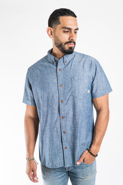 Almond Blue Low Tide Woven Shirt