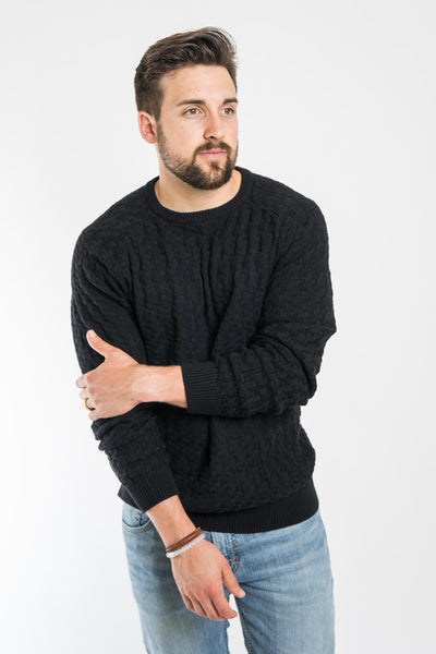 Aloha Sunday Black Relief Sweater