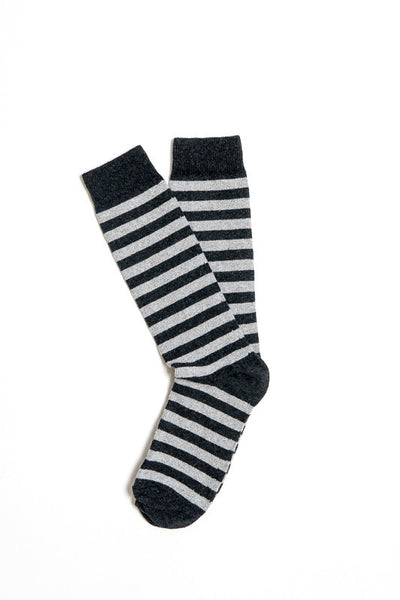 American Trench Carbon and Aluminum Rugby Stripe Socks