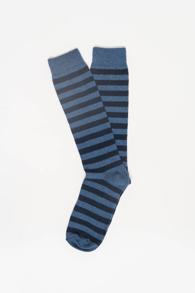 American Trench Slate Navy Rugby Stripe Socks