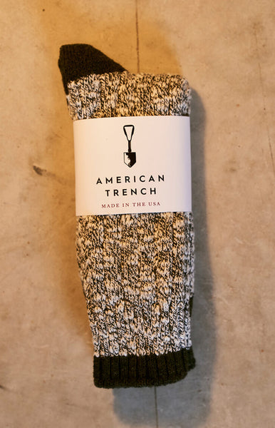 American Trench Charcoal Random Plait Sock