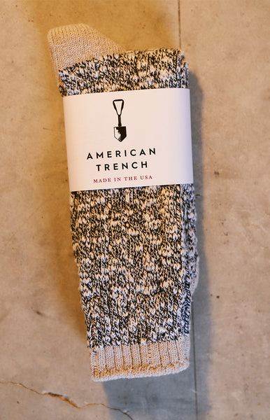 American Trench Navy Tan Socks