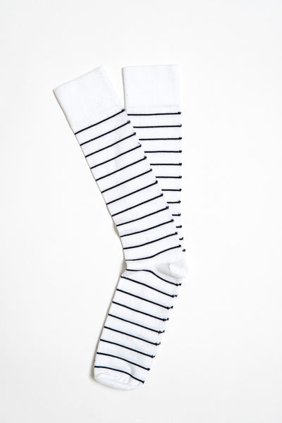 American Trench Nautical White Stripe Sock