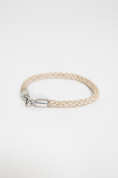Caputo & Co Waxed Jute with Silver Hook Bracelet