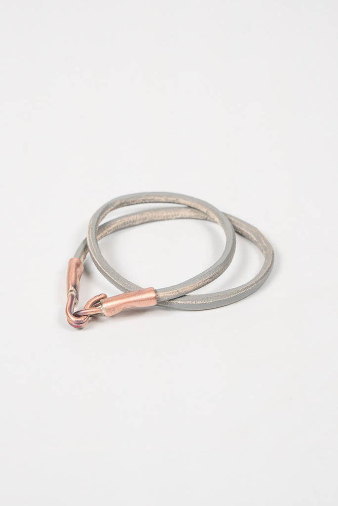 Cause & Effect Gray Leather Wrap Bracelet