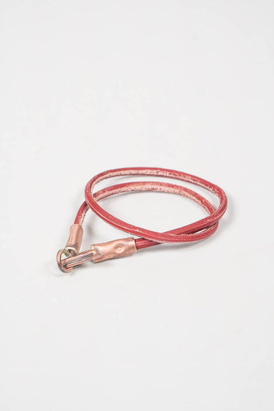 Cause & Effect Red Leather Wrap Bracelet