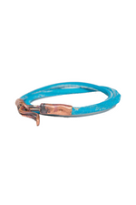 Leather Wrap Bracelet - Teal