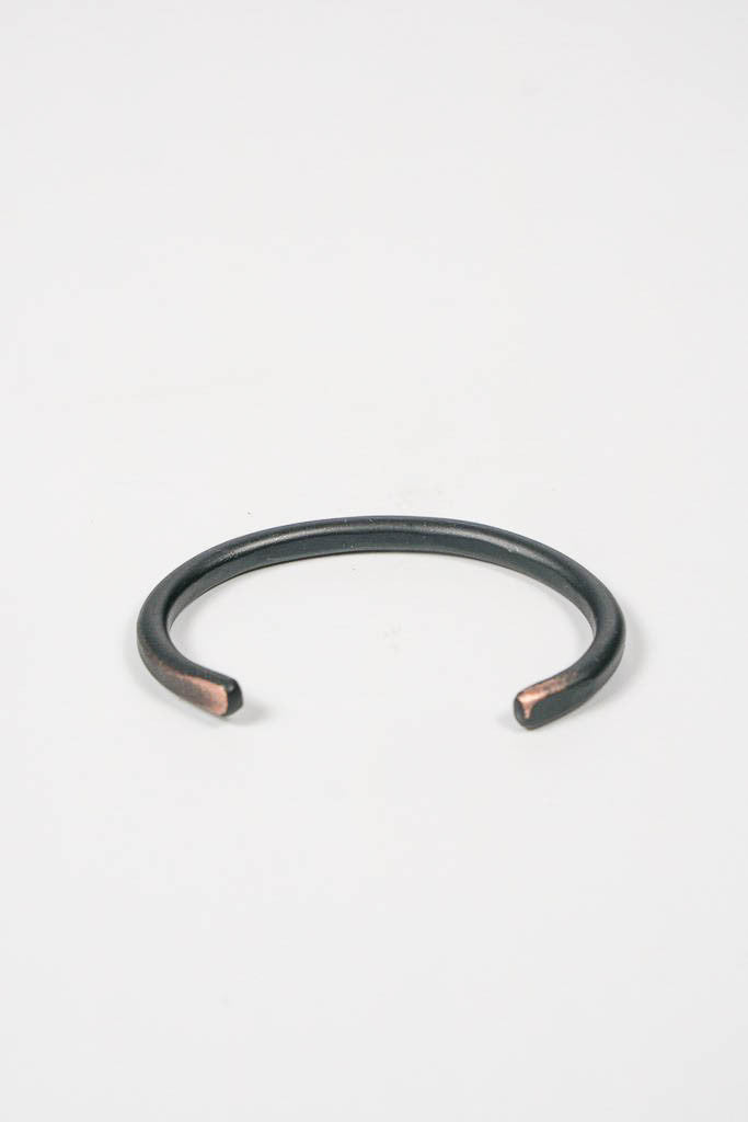 Cause & Effect Thin Black Copper Cuff