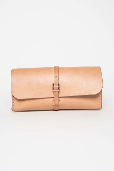Cicadia Leather Large Natural Dopp Kit