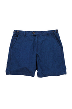 Indigo Cotton Shorts