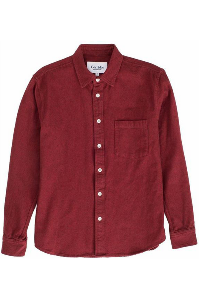 Corridor NYC Red Flannel Button Down