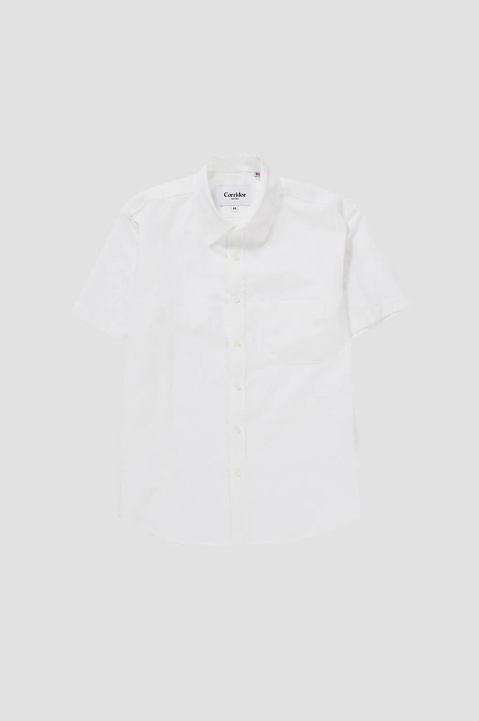 Corridor NYC White Linen Short Sleeve Shirt