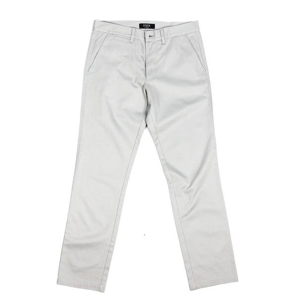 Stock Manufacturing Grey Twill Chinos