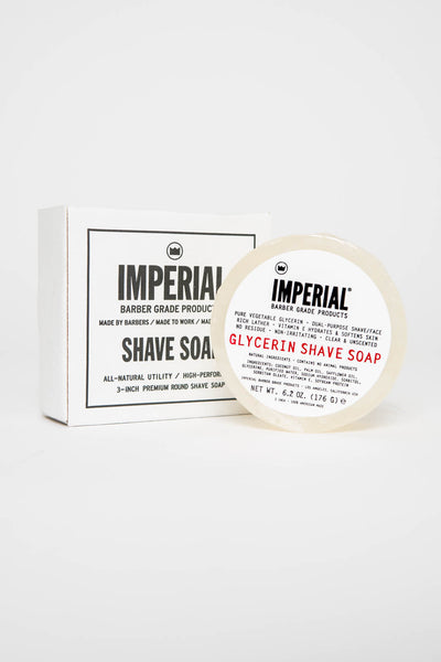 Imperial Barber Glycerine Shave Soap Puck