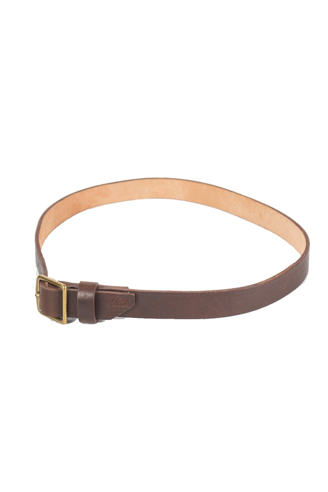 J Stark Leather Standard Belt - Chestnut