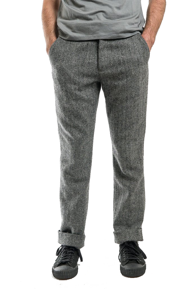 Krammer Stoudt Grey Herringbone Brighton Trouser