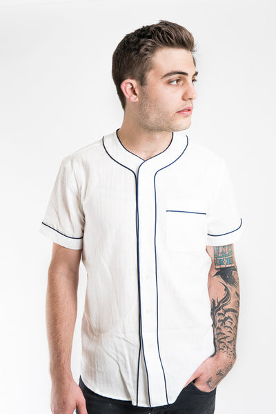 Krammer Stoudt - Baseball Shirt White and Navy