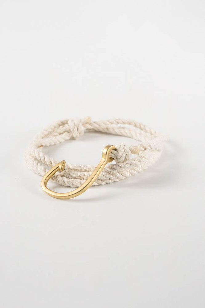 Miansai Brass Natural Rope Bracelet