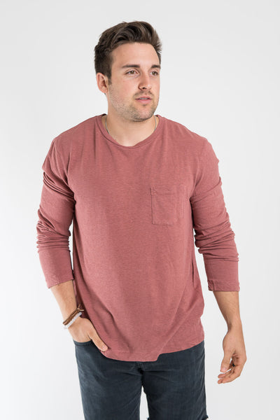 Mollusk Harvard Long Sleeve Hemp Tee