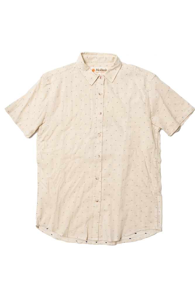 Summer Shirt - Natural/Dobby Blue