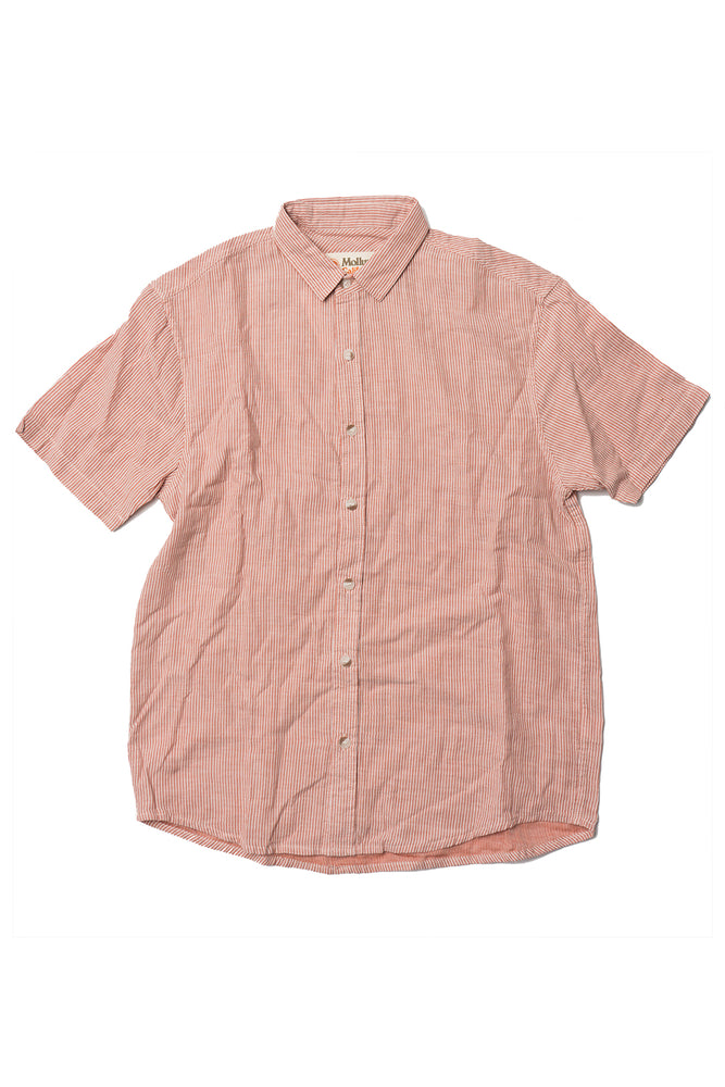 Summer Shirt - Rust Pin Stripe