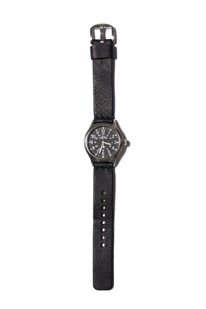 Mondaine No 1 Bold Watch 2nd Timezone Black