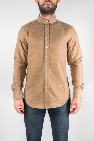 Outclass Camel Heather Twill Flannel Shirt