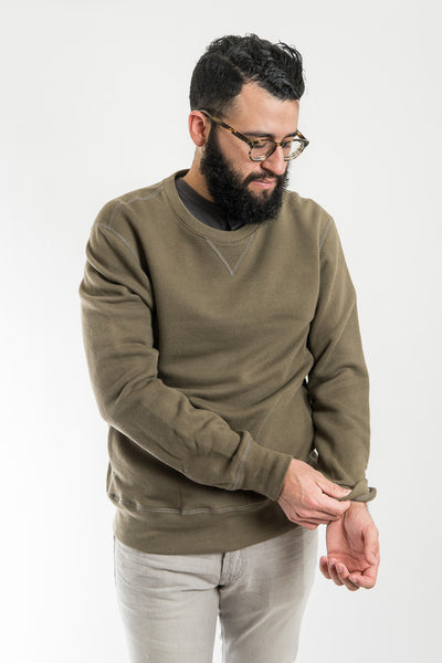 Outclass Olive Crewneck Sweater