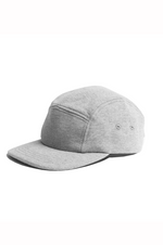 5 Panel Cap - Mid Weight Terry - Grey